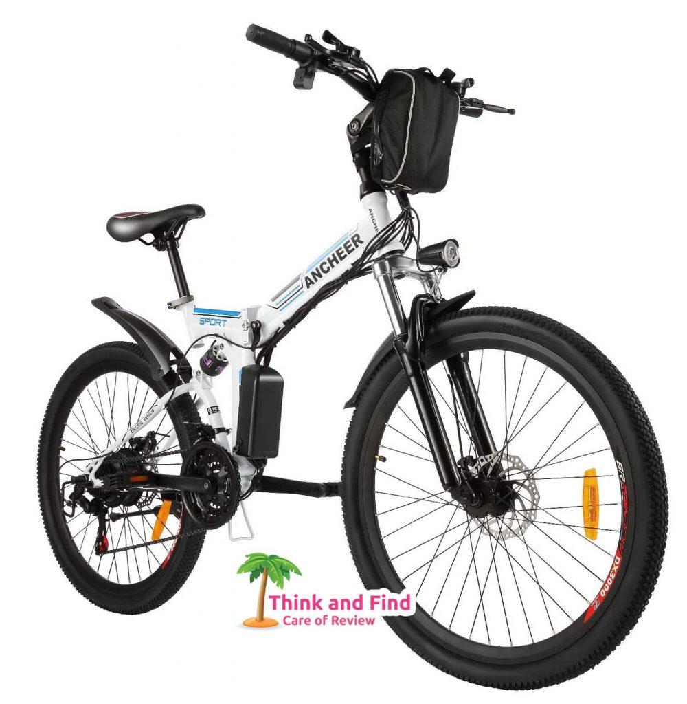 ANCHEER Folding Electric Mountain Bike - 4