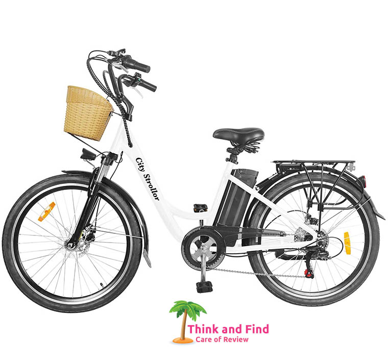 NAKTO 26 Adult Electric Bicycle City Sporting Shimano 6-Speed Ebike