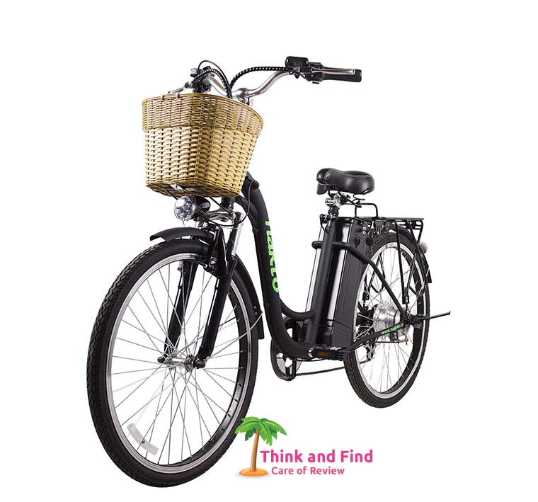 NAKTO 26 City Electric Bicycle and Assisted Bicycle for Men with Removable 36V 10A Large Capacity Lithium Battery and Charger