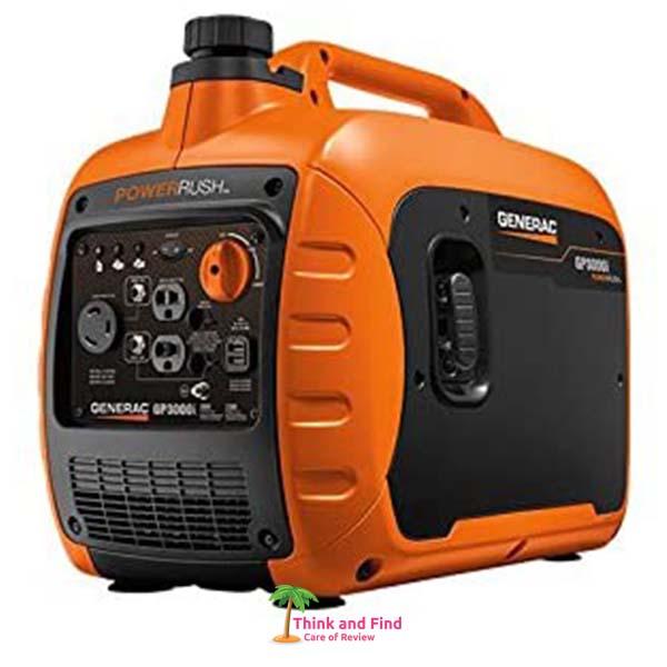 Generac GP3000i Super Quiet Inverter Generator - 3000 Starting Watts with PowerRush Technology think and find