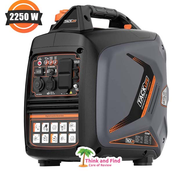 TACKLIFE Portable Gas-Power Inverter Generator - think and find