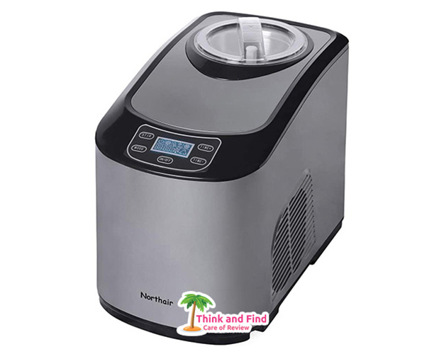 Northair-Fully-Automatic-Ice-Cream-Maker-with-Compression-Cooling-1.4-Quart-Upright-Titanium-Alloy-Frozen-Yogurt-Sorbet-Ice-Cream-Machine-with-a-Recipe-Booklet 2