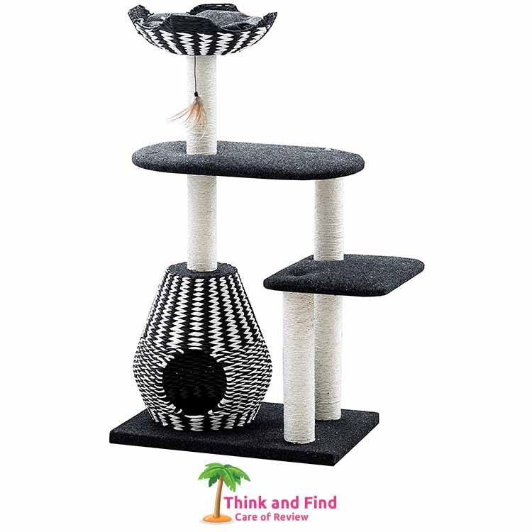 Ace - PetPals Cat Tree & Cat Condo-Four Level Perch & Condo Lounger1